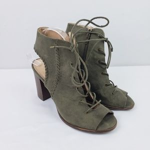 Mix No 6 Camona Green Zipper Ankle Bootie #B